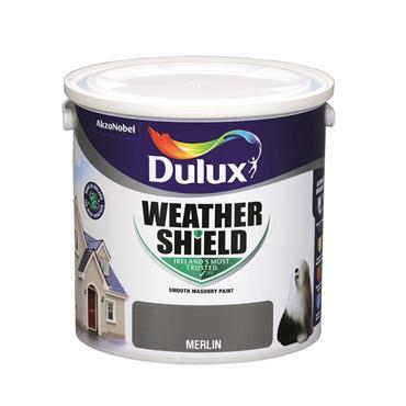 Dulux 2.5 Litre Weathershield Masonry Paint - Merlin | 5084637