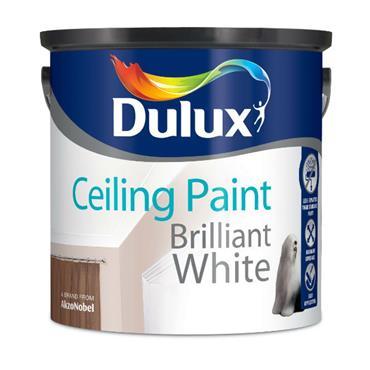 Dulux 2.5 Litre Ceiling Paint White | 5083579
