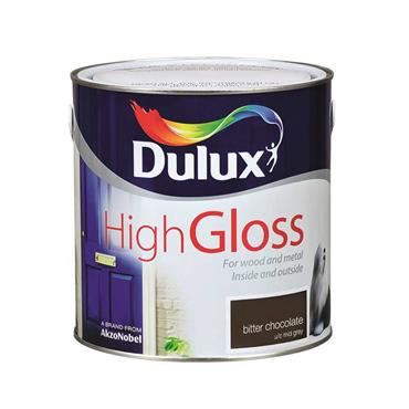 Dulux 2.5 Litre High Gloss - Bitter Chocolate | 5083948