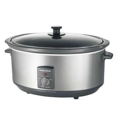 MORPHY RICHARDS OVAL 6.5 LITRE STAINLESS STEEL SLOW COOKER | 48718
