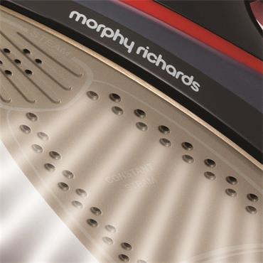 Morphy Richards Turbosteam Pro Steam Iron 3100W - Black & Red | 303125