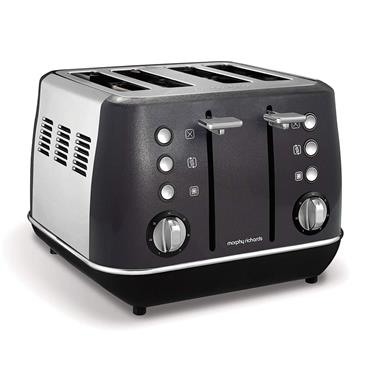 Morphy Richards Evoke 4 Slice Toaster - Black | 240105