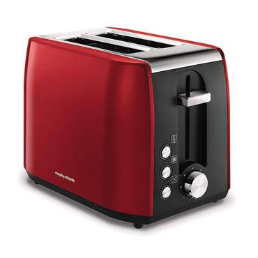 Morphy Richards Stainless Steel 2 Slice Toaster - Red | 222060