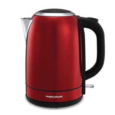 Morphy Richards Equip 1.7 Litre Stainless Steel Red Jug Kettle | 102782
