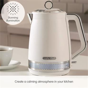 Morphy Richards Illumination Kettle 1.7 Litre - White | 108021
