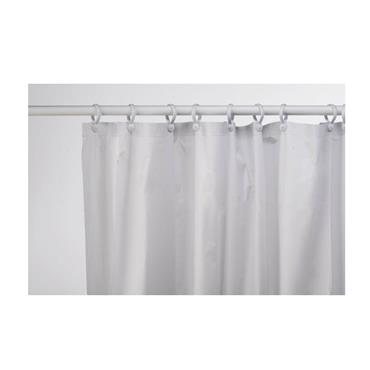 Croydex 180cm x 180cm Vinyl Shower Curtain - White | CRXAE100022