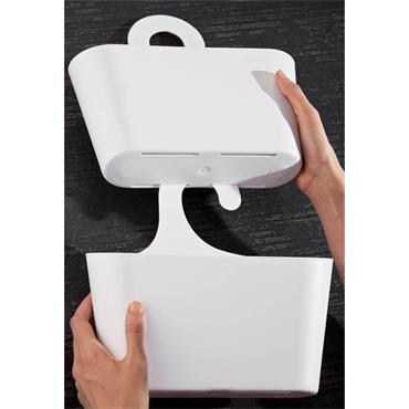 Croydex Hook On Plastic Shower Caddy - White | CRXPA120822