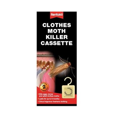 RENTOKIL CLOTHES HANGING MOTH KILLER CASSETTE PACK OF 2