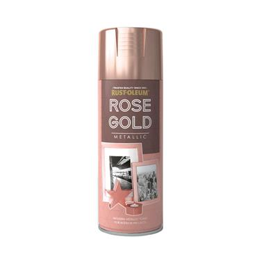 Rustoleum Rose Gold Metallic Spray Paint - 400ml |