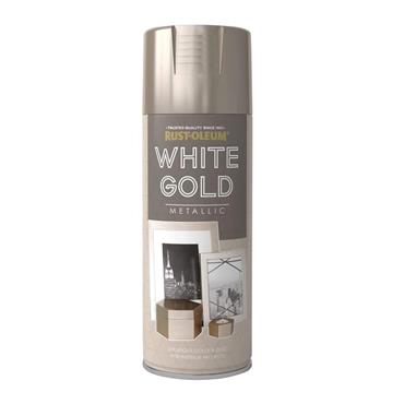 Rustoleum White Gold Metallic Spray Paint 400ml | PTOU231