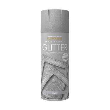 Rustoleum 400ml Super Sparkly Glitter Spray Paint - Silver  | PTOU234