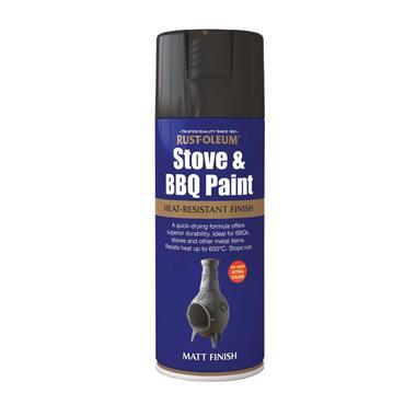 Rustoleum Painters Touch Multi-Purpose Spray Paint 400ml - Stove & BBQ Black | PTOU016