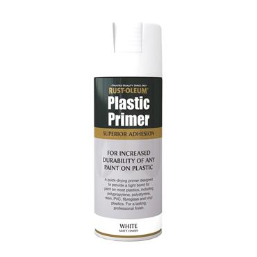 Rustoleum Plastic Primer Spray Paint 400ml -  Matt White