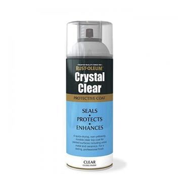 Rustoleum Crystal Clear Gloss Protective Top Coat 400ml Spray | PTOU002