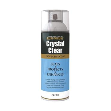 Rustoleum Protective Top Coat Spray Paint 400ml - Crystal Clear Semi Gloss | PTOU003
