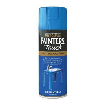 Rustoleum Painters Touch Multi-Purpose Spray Paint 400ml - Brillant Blue | PTOU009