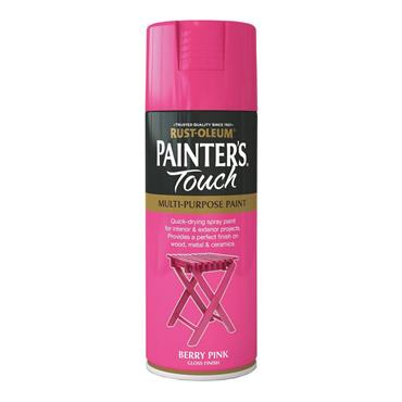 Rustoleum Painters Touch Multi-Purpose Spray Paint 400ml - Berry Pink | PTOU025