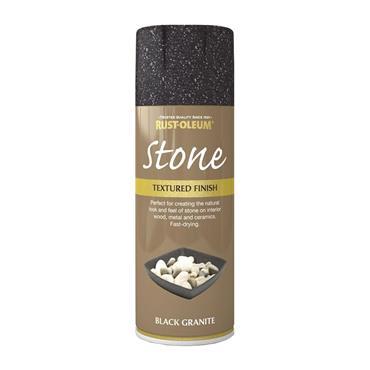 Rustoleum Textured Finish Spray Paint 400ml - Black Granite |