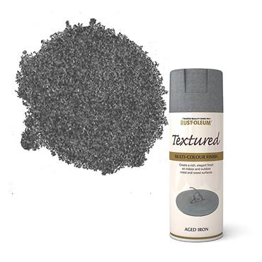 Rustoleum Textured Spray Paint 400ml - Aged Iron | PTOU037
