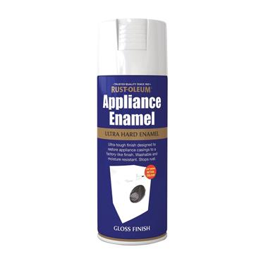 Rustoleum Ultra Hard Appliance Enamel Spray Paint 400ml - Gloss White