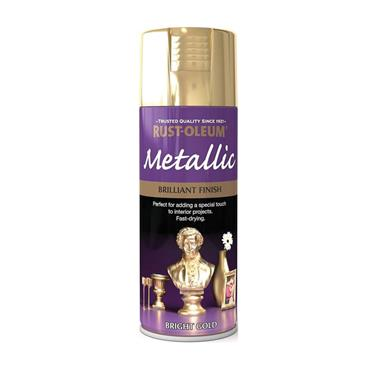 Rustoleum Metallic Spray Paint 400ml - Bright Gold | PTOU017