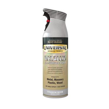 Rustoleum Universal Metal And All-Surface Spray Paint - Titanium Silver 400ml | PTOU069