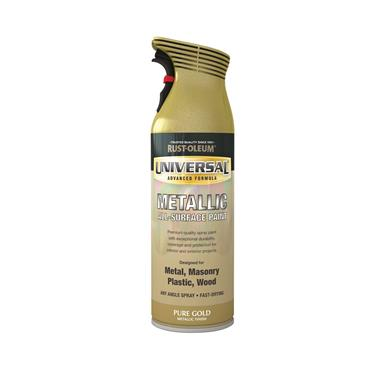 Rustoleum Metallic Pure Gold Universal Metal And All Surface Spray Paint - 400ml | PTOU072