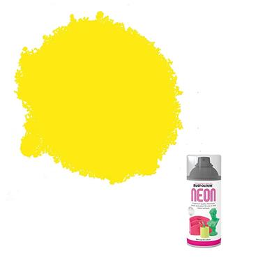 Rustoleum Neon Effect Spray Paint 150ml - Satin Yellow | PTOU310