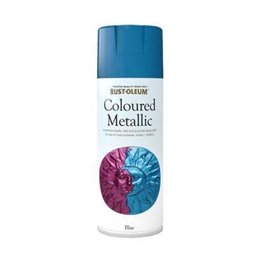 Rustoleum Metallic Spray Paint 400ml - Blue