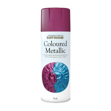 Rustoleum Coloured Metallic Spray Paint 400ml - Pink