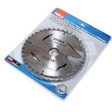 Hilka 3 Piece Circular Circ Saw Blade 184mm x 30mm x 16/24/40 Tooth | 51184003