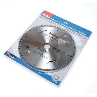 Hilka 2 Piece Circular Circ Saw Blades 250mm x 25mm x 40/60 Tooth | 51250002