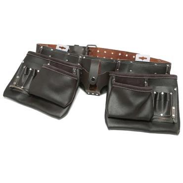 Hilka Heavy Duty Oil Tanned Leather Double Tool Belt | 77705002