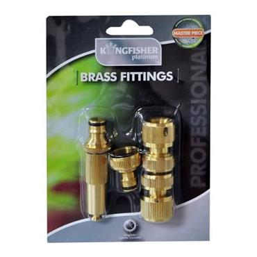 Kingfisher Brass Hose Fitting Set | 1905-58