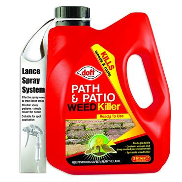 Doff Path & Patio Ready to Use Weedkiller 3 Litre | DOFFDPC00