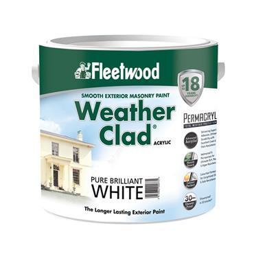 Fleetwood 2.5 Litre Weatherclad Masonry Paint - Brillant White   XWC25BW