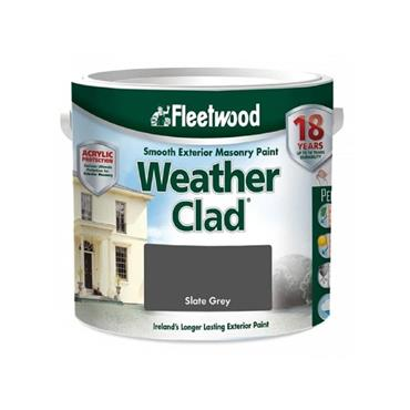 Fleetwood 2.5 Litre Weatherclad Masonry Paint - Slate Grey | XWC25SG