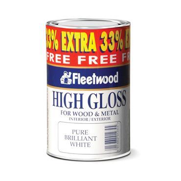 Fleetwood 1 Litre Gloss - Brillant White   GLO01BW