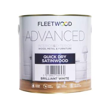 fleetwood 1 Litre Satinwood - White | STO01BW
