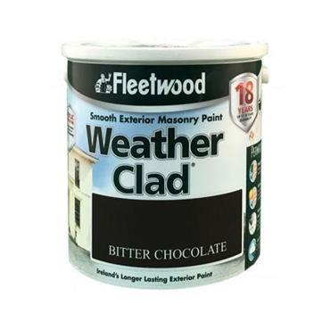 Fleetwood 2.5 Litre Weatherclad Masonary Paint - Bitter Chocolate | XWC25BC