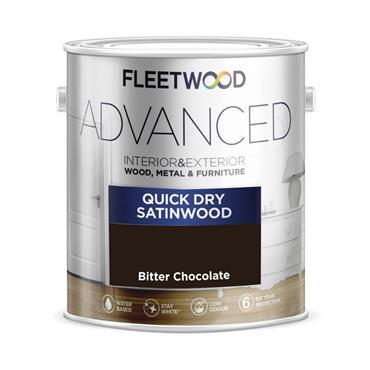 Fleetwood 750ml Advanced Quick Drying Satinwood - Bitter Chocolate | STA07BC