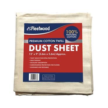 Fleetwood 12' x 9' Premier Cotton Dust Sheet | DSPC129