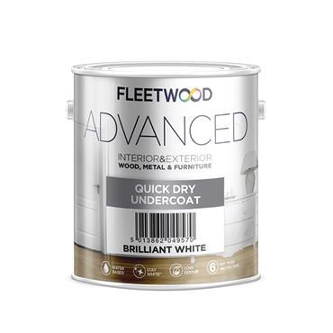 Fleetwood 1 Litre Advanced Quick Drying Undercoat - White | UNA01BW