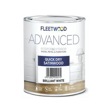 Fleetwood 2.5 Litre Advanced Quick Drying Satinwood - White | STA25BW