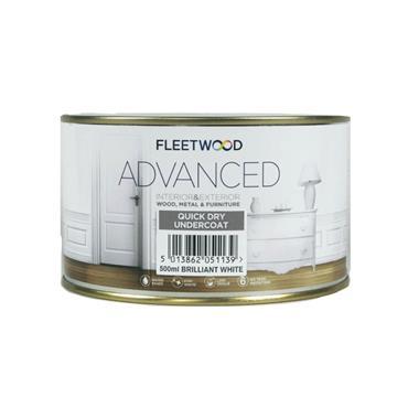 Fleetwood 500ml Advanced Quick Drying Undercoat - Brillant White | UNA05BW