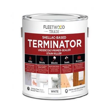 Fleetwood 1 Litre Terminator Undercoat Primer Stain Killer - White | PTSO01BW