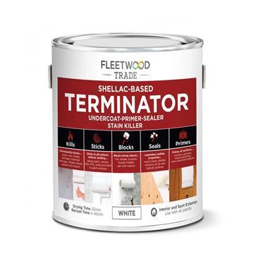 Fleetwood 2.5 Litre Terminator Undercoat Primer Stain Killer - White | PTSO25BW