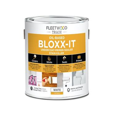 Fleetwood 1 Litre Bloxx-It Undercoat Primer Stain Killer - White | PBIO01BW