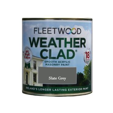 Fleetwood 1 Litre Weatherclad Masonry Paint - Slate Grey | XWC01SG