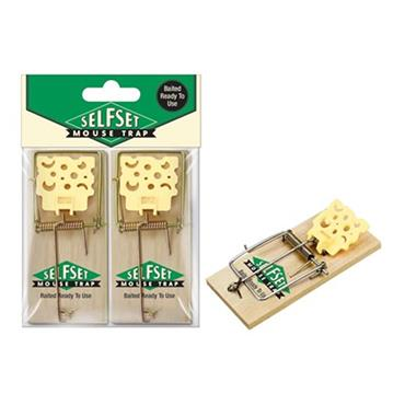 Selfset Baited Wooden Mouse Trap 2 Pack